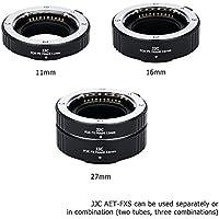 JJC Auto Focus Macro Extension Tube Set for Fujifilm Mirrorless Camera such as Fuji Fujifilm X-T2/X-T1/X-T20/X-T10/X-PRO2/X-PRO1/X-A3/X-A2/X-A1/X-A10/X-E2/X-E2S/X-M1, Replaces Fuji MCEX-11 & MCEX-16