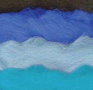 Tonos De Lana Elfos Fieltro De Lana De Gama Azul Con 4 Colores - Gama-de-azul