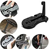 Automotive : HK Car Door Step, Upgraded 5 in 1 Vehicle Folding Ladder Foot Peg Hooked for Rooftop with Safety Hammer U Shaped Slam Latch Door Step Easy Reach to Car Roof-Rack,Tire Stopper for Jeep SUV Off-road Car