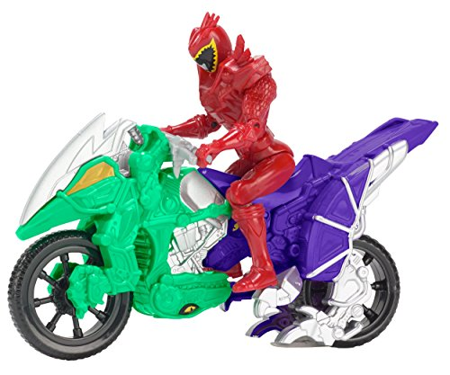 (Power Rangers Dino Super Charge - Dino Cycle with T-Rex Super Charge Red Ranger Action Figure, 5