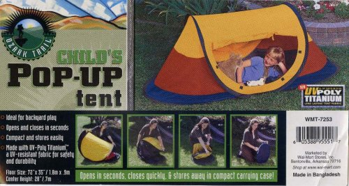 & Amazon.com : Ozark Trail Childu0027s Pop-Up Tent : Sports u0026 Outdoors