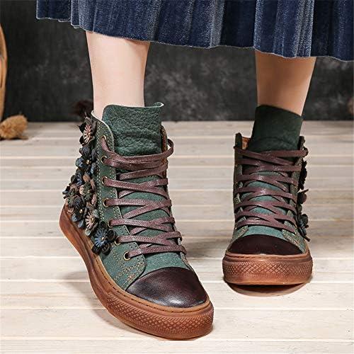 HOAPL Martin Vintage Classic Boots lacées Pointu Martin Bottines Bottillons Bottes de Combat Militaires de la Femme,40
