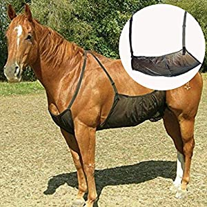 HilMe Cavallo Fly Tappeti, Cavallo Addome Coperte Elasticità Anti-zanzara Rete per Outdoor, Regolabile Flysheet Rete… 7 spesavip