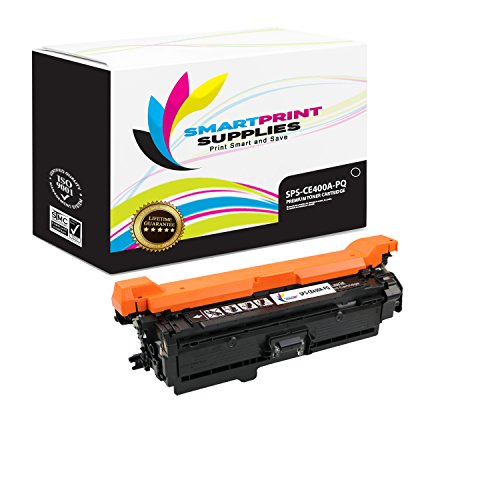 Smart Print Supplies 507A CE400A Premium Black Compatible Toner Cartridge Replacement for HP LaserJet M551 M551dn M551n M551xh Laser Printers (5,500 Pages) (Print Cartridge 5500 Smart)