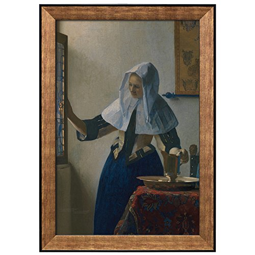 Young Woman with a Water Pitcher by Johannes Vermeer Framed Art