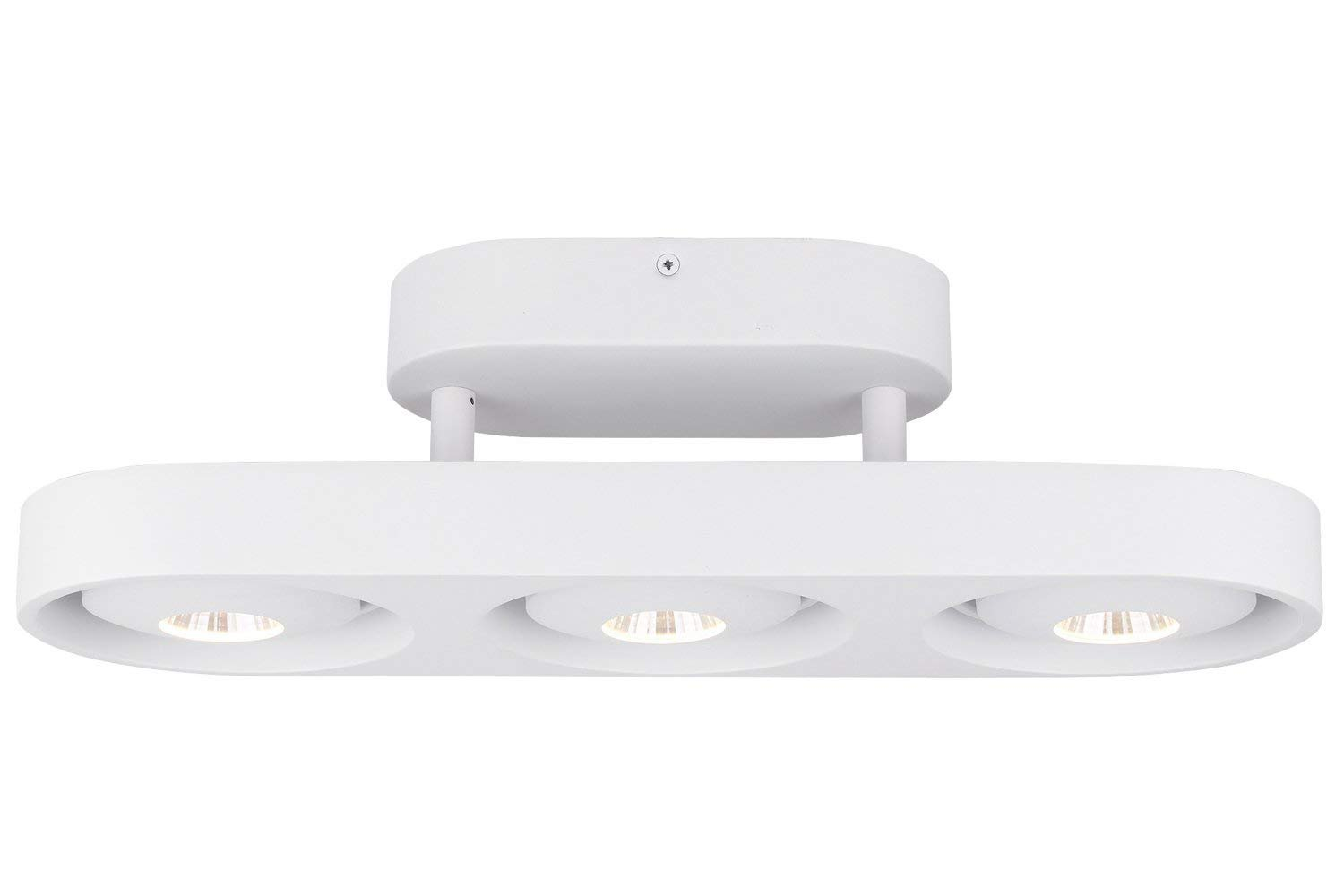 RUNNLY LED Ceiling Light Semi Flush Mount Track Spot Lighting with Cree Chip 3x10W, Dimmable for Kitchen Living Hallway Office Commercial
