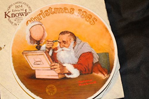Edwin M. Knowles- Grandpa Plays Santa - 1985 Official Limited-Edition Christmas Plate -8.25