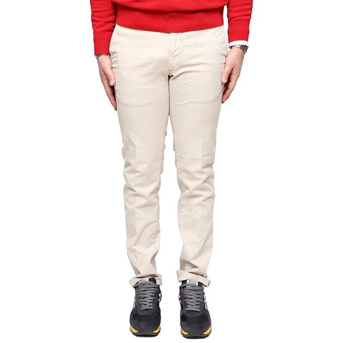 new styles 2f69f 917c3 Incotex Pantalone Slim Fit in Cotone Beige: Amazon.it ...
