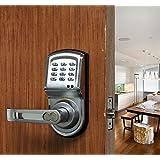 Assa Abloy Digi Smart Security Electronic Keyless Keypad Door Lock Knob Home Use Entry 6600-88 Silver
