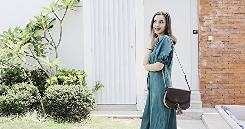 Bags Crossbody Shoulder Saddle for Coffee with Women Purse ECOSUSI Vintage Tassels Bag qXU6wqE