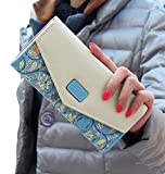 10 dollar restaurant gift cards - iToolai Vintage Women PU Leather Wallet Clutch Card Holder Long Purse,Blue
