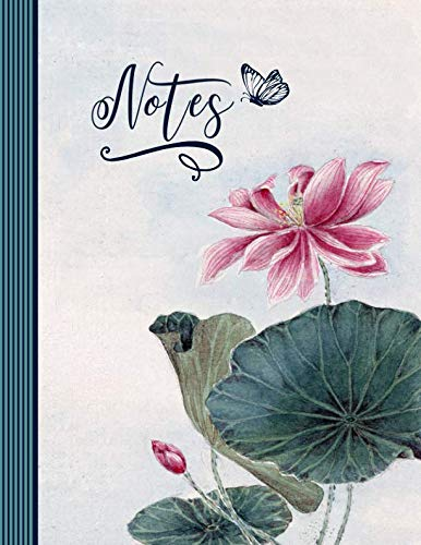 Notes: Composition Notebook Journal (Large) - Ruled Lined Writing Journaling Book - Lotus Flower (Lily Journal)