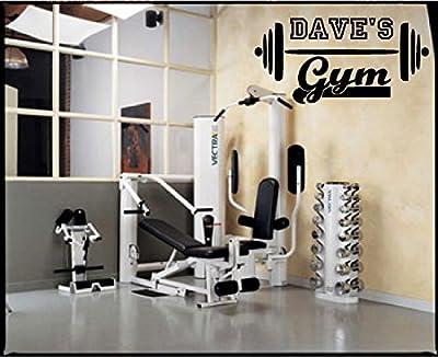 Personalized Gym Fitness Bodybuilding Wall Decal Vinyl Sticker Decor