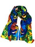 Pure Silk Art Scarf - Marc Chagall - Extremely Soft and Colorful