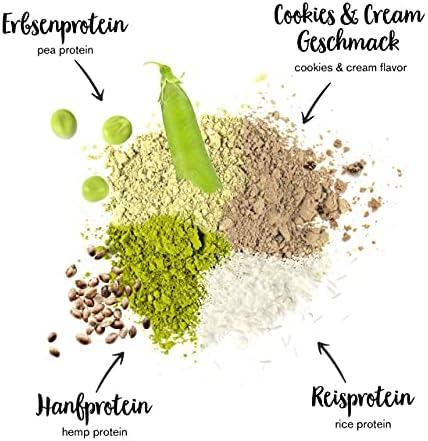 nu3 Proteína vegetal fresa + cookies & cream - 2kg de proteina vegana 3K en polvo con hasta 70% de proteína a base de 3 componentes vegetales - ...