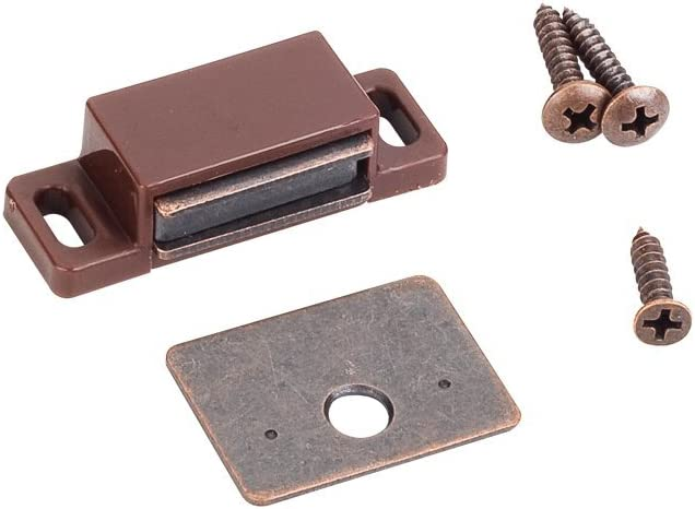 Shutter Hardware Box of 10-15lb Single Magnetic Catches Brown//Bronze Retail Pack