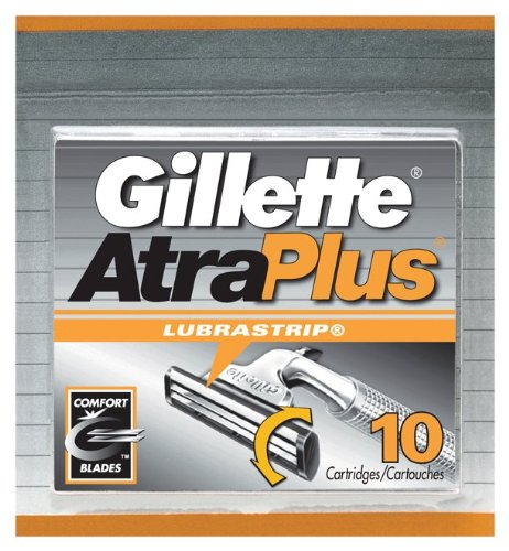 Gillette AtraPlus Cartridges with Lubrastrip, 10-Count Packages (Pack of 2)