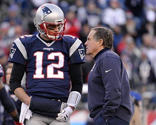 Tom Brady Pictures (Tom Brady & Bill Belichick 8 x 10 / 8x10 GLOSSY Photo Picture)
