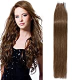 (US) Tape In Virgin Human Hair Extensions 100% Remy Human Hair 20 pieces x 4 cm wide Human Hair 16