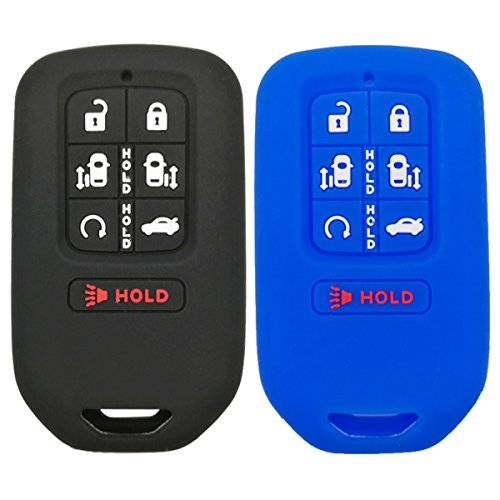 2Pcs Coolbestda 7buttons Key fob Cover Remote Control Keyless Jacket Holder Bag Case for 2018 Honda Odyssey elite