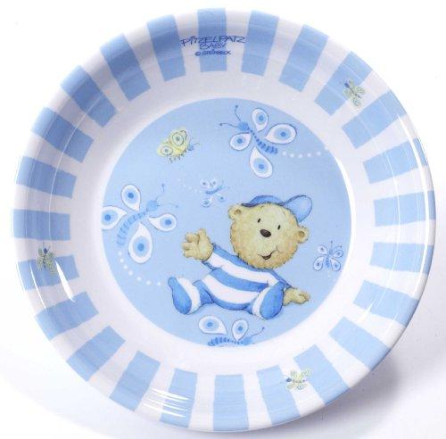 Dinico 0002987031 - Baby Pitzelpatz Boys Brei-/Suppenteller
