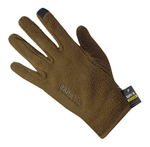 Rapdom Tactical Polar Fleece Gloves, Coyote, Small by RAPDOM