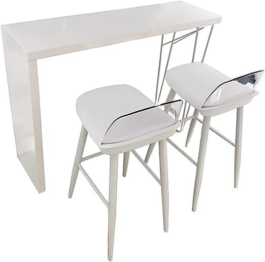 T-Table Lxn Blanco de Madera sólida Bar, Mesa de Bar-Comedor con ...