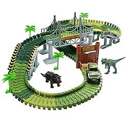 Lydaz Race Track Dinosaur World Bridge C...