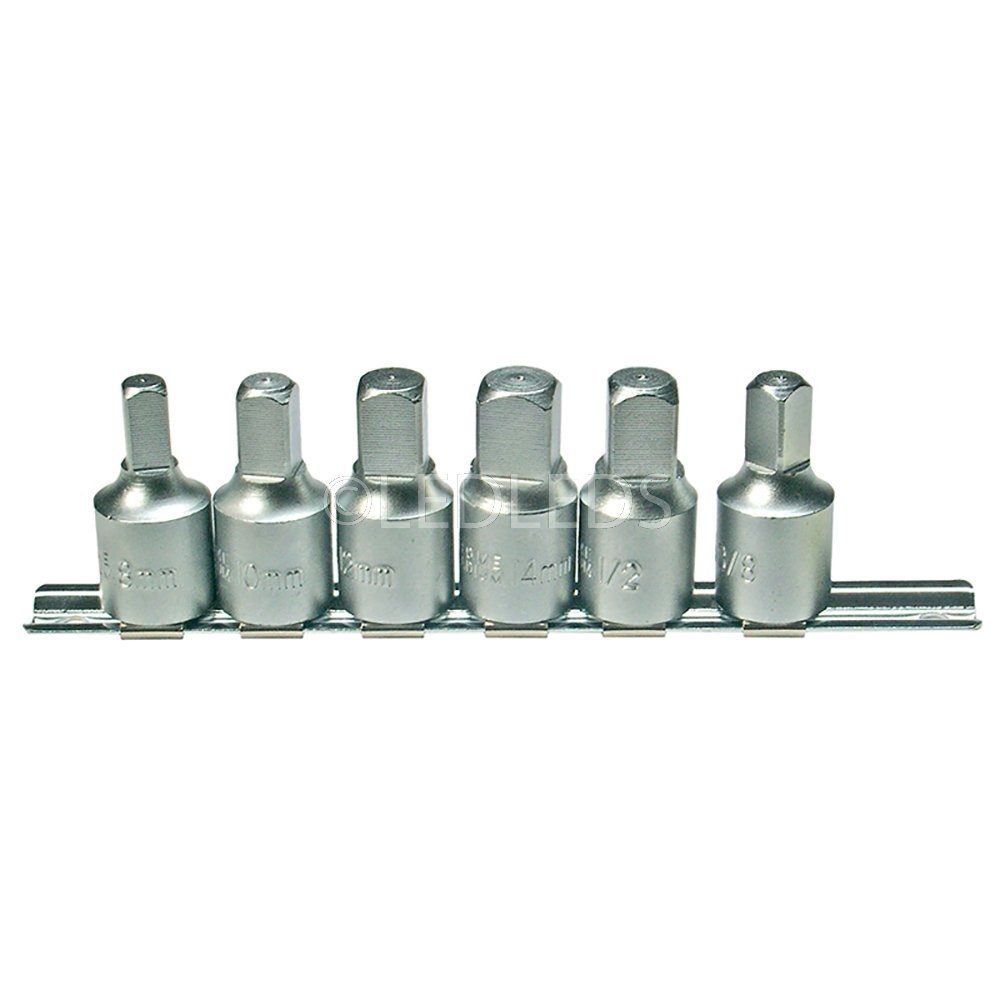 Set chiavi bussola per tappi scarico coppa olio 8 10 12 14 mm 12 38 quadra