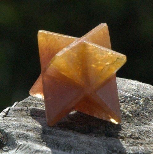 Golden Healer Quartz Merkaba Star -