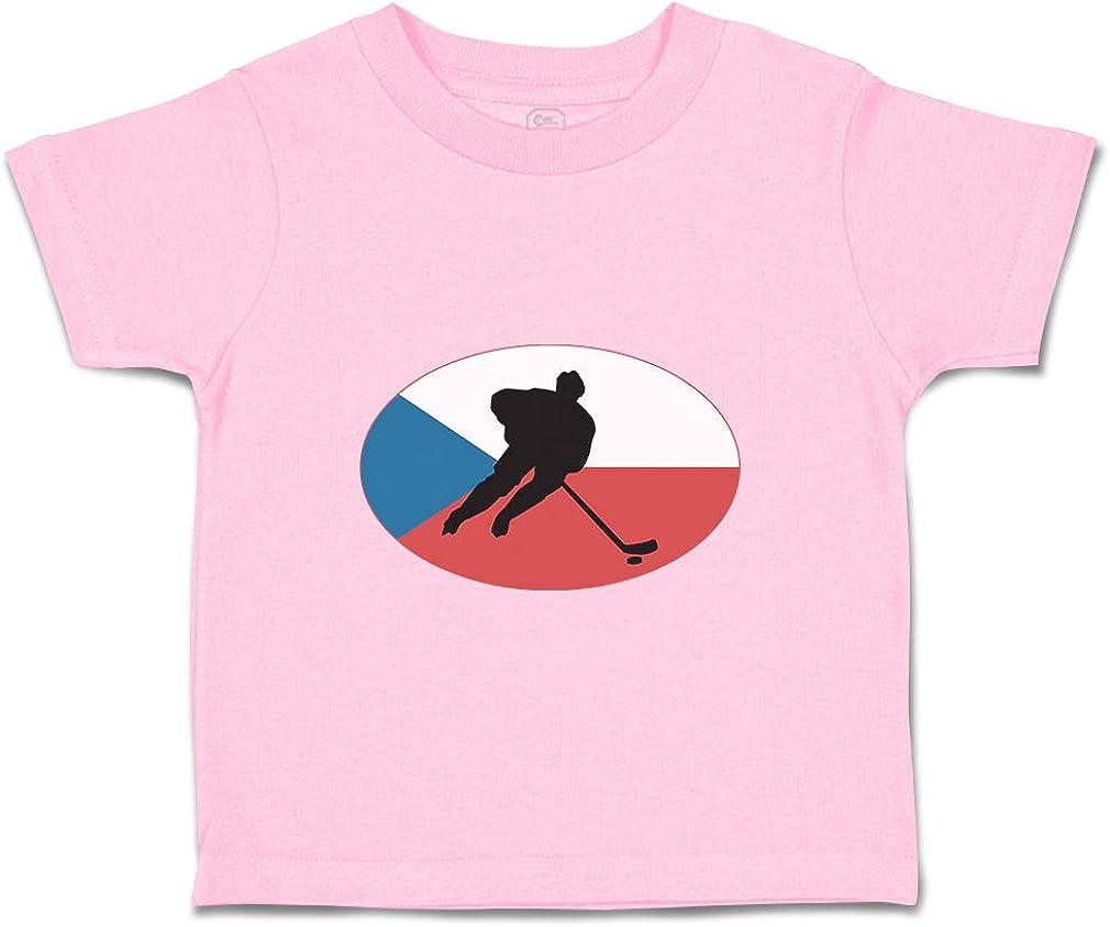 Custom Baby /& Toddler T-Shirt Hockey Player Czech Republic Boy Girl Clothes