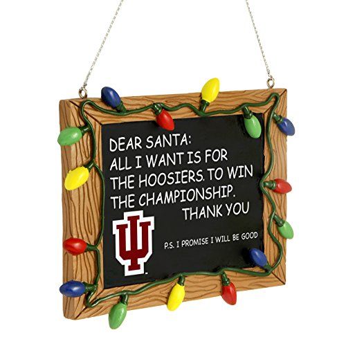 NCAA Indiana Hoosiers Resin Chalkboard Sign Ornament, Red, One Size by Forever Collectibles