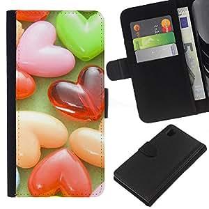 JackGot ( Amore Candy Amore ) Sony Xperia Z1 L39 la tarjeta de Crédito Slots PU Funda de cuero Monedero caso cubierta de piel