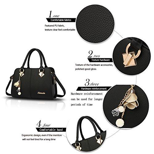 New Bag Handbag top Bag Messenger Fashion Sdinaz Shoulder Ladies Black Stitching Handbag Retro Shoulder Cross wY5wOZq7