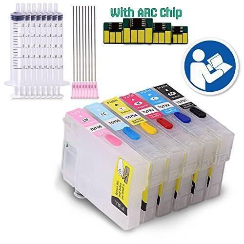 INKUTEN (TM) - 4 EMPTY Refillable Cartridges for Artisan 1430 #79 T079 Easy-to-refill With Resettable Chips