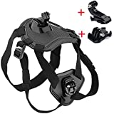 Walway Adjustable Dog Harness Chest Mount for GOPRO HERO 6/ 5/ 5 Session/ 4 Session/ 4/ 3+/ 3/ 2/1 and other Action Cameras, with J-Hook and Release Buckle