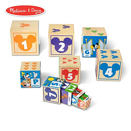 - Melissa & Doug Mickey Mouse & Friends Nesting & Stacking Blocks Baby Toy