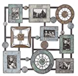 "Uttermost 36.3"" Inch Petina Photo Collage & Clock Wall Mounted Combination Of Antiqued Blue/Green"