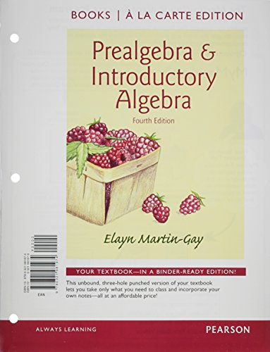 Prealgebra & Introductory Algebra Books a la Carte Edition Plus NEW MyLab Math with Pearson eText -- Access Card Package (4th Edition)