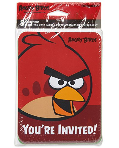 American Greetings Angry Birds Invite & Thank-You Combo