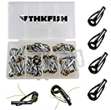 thkfish Fishing Rod Tip Repair Kit, 30pcs Sliver Body Fishing Golden Ceramic Ring Sea Saltwater Heavy Duty Fishing Tip Tops Fishing Rod Guides Tip Repair Kit