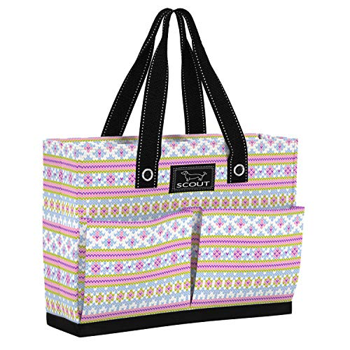 Scout Uptown Girl Tote, Medium Tote Bag for Women, Lightweight Utility Tote Bag with Pockets and Zippered Closure, Perfect Teacher Tote Bag or Nurse Tote Bag (Multiple Patterns Available)