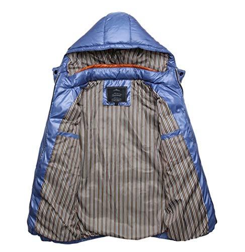 Le À Taille Pour Légère Xxxl Capuche Manteau Bleu Ultra Jaune Lihua Homme D'hiver couleur xCI7H