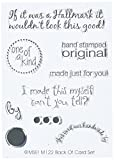 MSE-My Sentiments Exactly Clear Stamp Set. These clear stamps are made of a high quality clear photopolymer that is economical and easy to store. This 5-1/2 by 3-1/8in package contains a variety of stamps. Stamp sets are available in a variet...