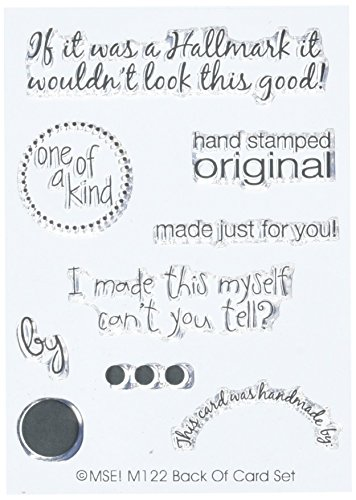 My Sentiments Exactly Clear Stamp M, Back Of Cards - Acrylic Clear Sentiments Stamps