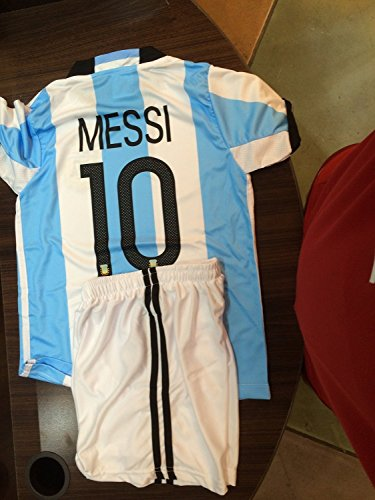 FWC Argentina Home Messi 10 futbol football soccer jersey & short (10-11 years)