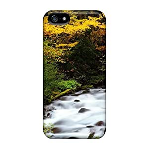Iphone High Quality Cases/ Autumn River Flow SYj10791zKZU Cases Covers For Iphone 5/5s