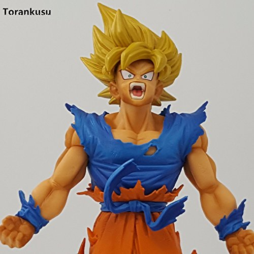Amazon.com: Dragon Ball Figure Son Goku Figure MSP Super Saiyan The Brush Figure PVC 240mm Dragon Ball Z Action Figure DBZ DragonBall Z: Toys & Games