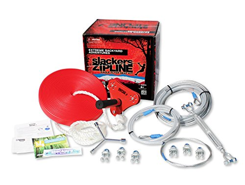 90' Eagle Series Seated Zipline Kit by Slackers