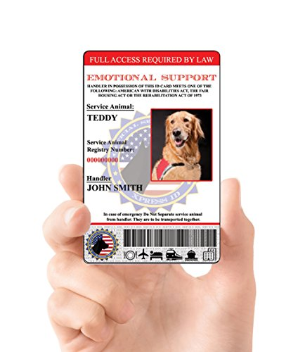 XpressID Holographic Emotional Support Dog ID Card (Custom) Includes Registration To National Dog Registry by Xpress ID (Image #4)